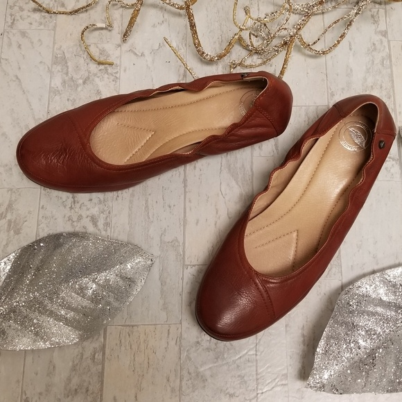 Nurture Brown Size 11 Leather Wedge Shoes